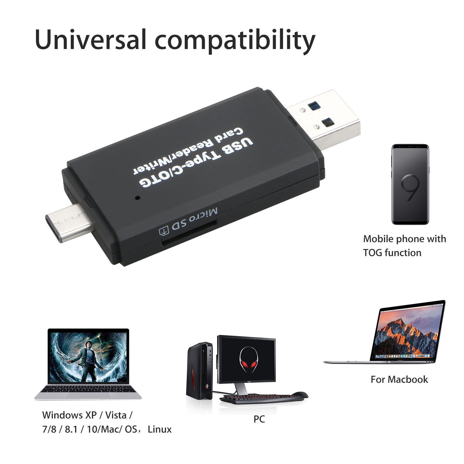 USB-C-3-0-Type-C-to-USB3-0-OTG-HUB-Adapter-USB-TF-SD-Micro-SD-Memory-Card-Reader thumbnail 4