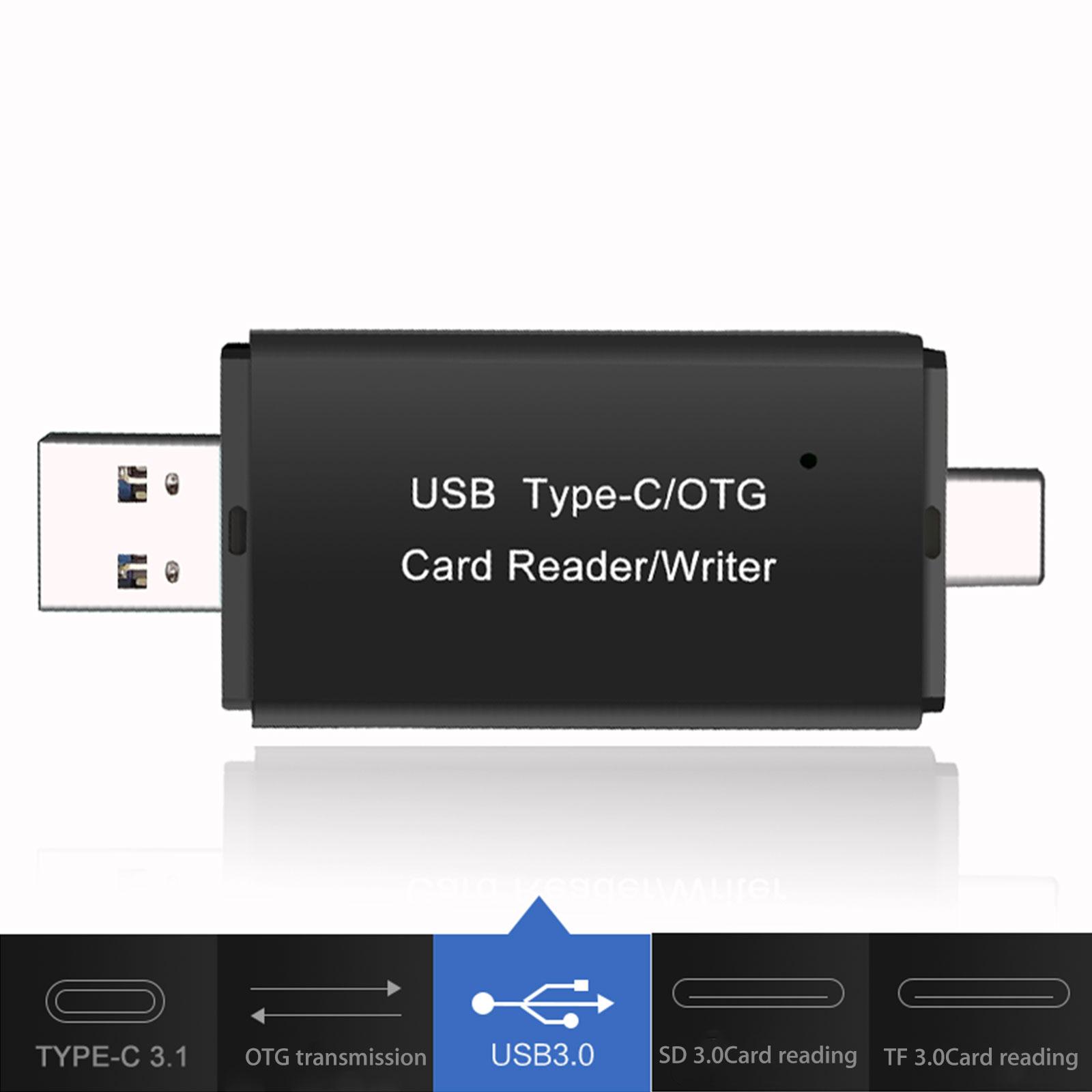 USB-C-3-0-Type-C-to-USB3-0-OTG-HUB-Adapter-USB-TF-SD-Micro-SD-Memory-Card-Reader thumbnail 3