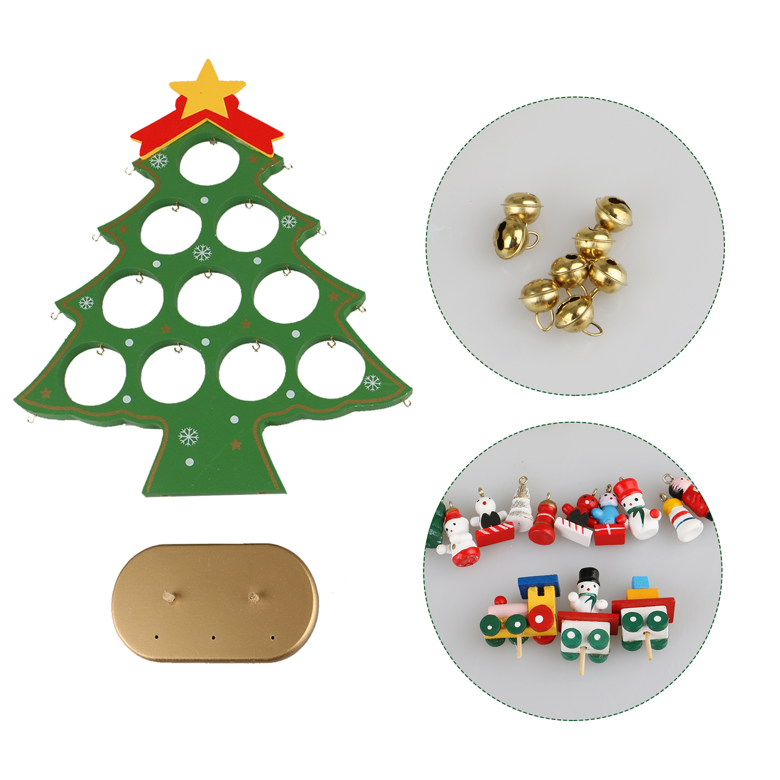 diy wooden christmas ornaments festival party xmas tree - Wooden Christmas Ornaments