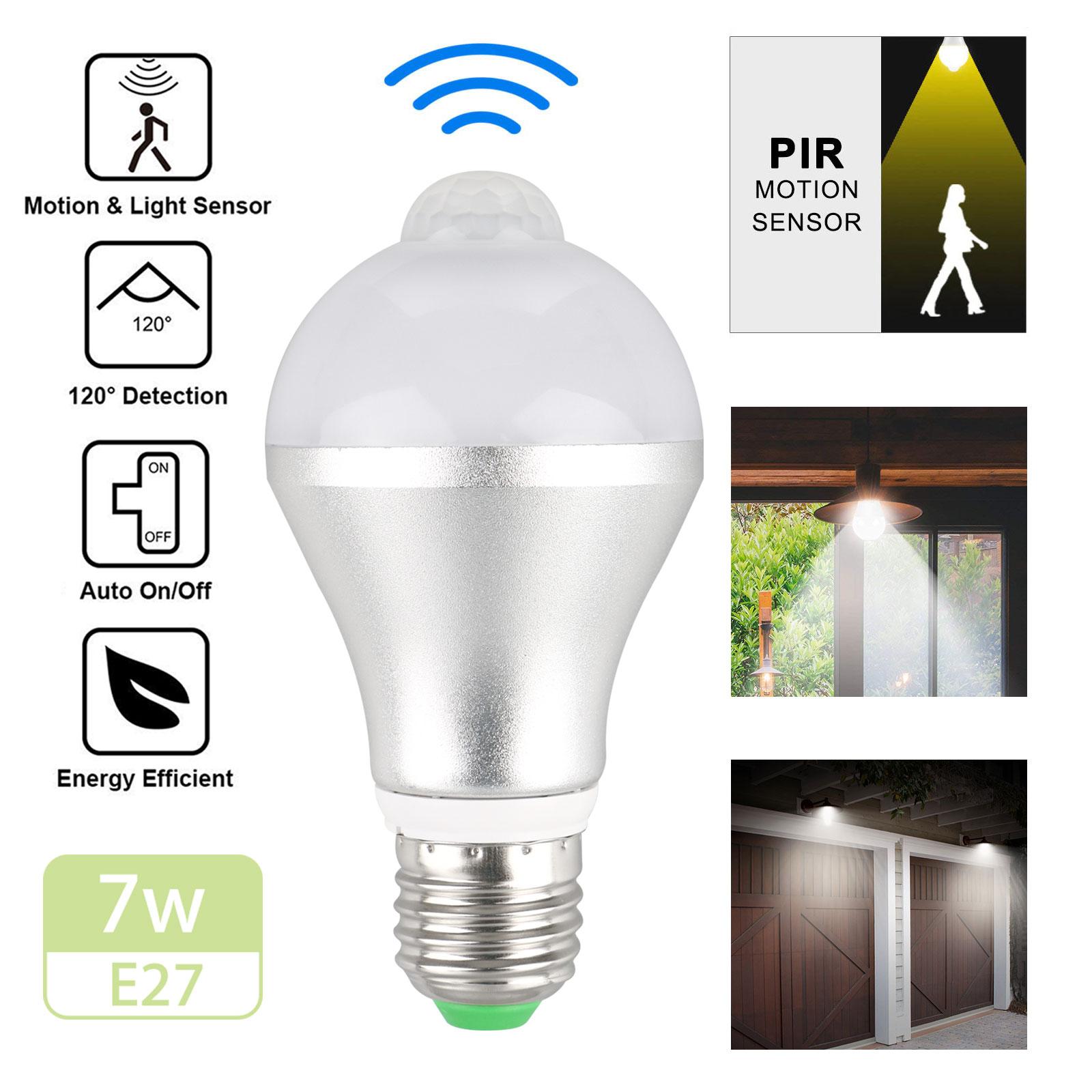 Light Bulbs Lamps Lighting Ceiling Fans E27 Led Motion Sensor Bulb 5w 7w Dusk To Dawn Light Sensor Lamp Indoor Outdoor Lamp Light Bulbs