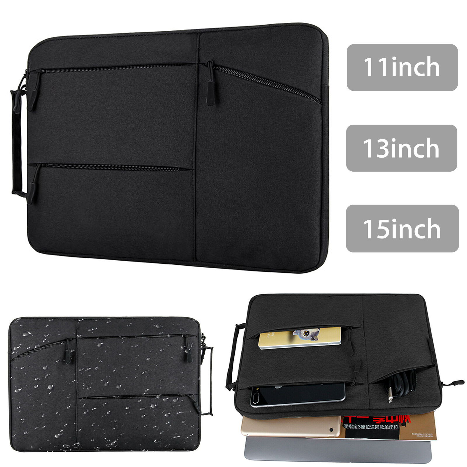 11 13 15 inch laptop notebook sleeve