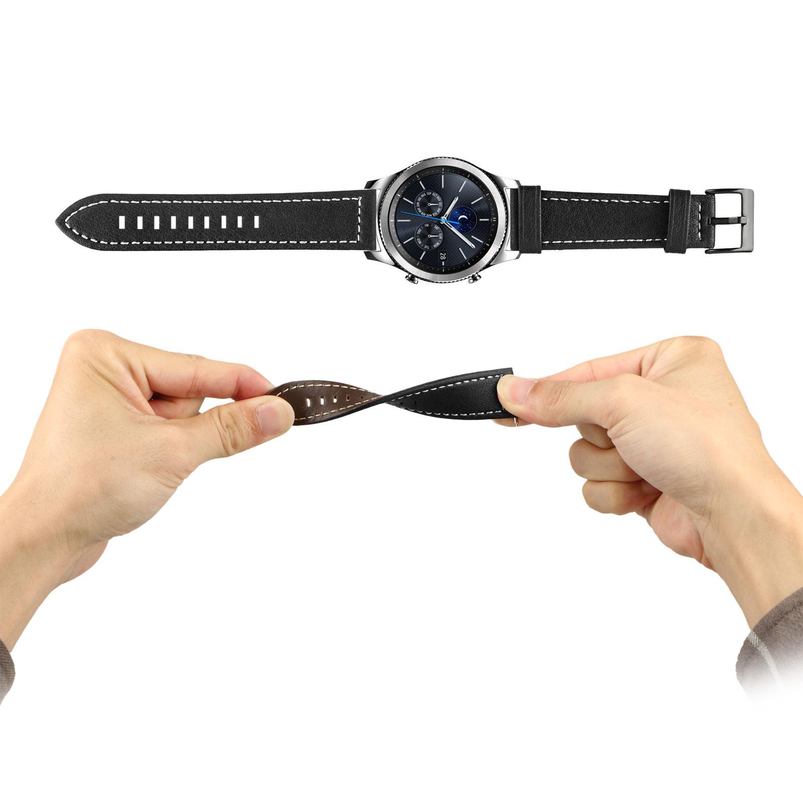 Luxury-Leather-Wrist-Strap-Band-Bracelet-For-Samsung-Galaxy-Watch-42mm-46mm