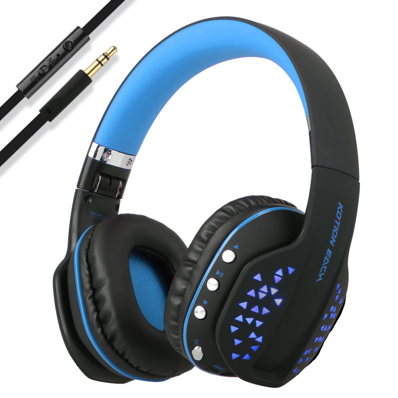 bluetooth wireless gaming headset stereo headphone usb 3. Black Bedroom Furniture Sets. Home Design Ideas