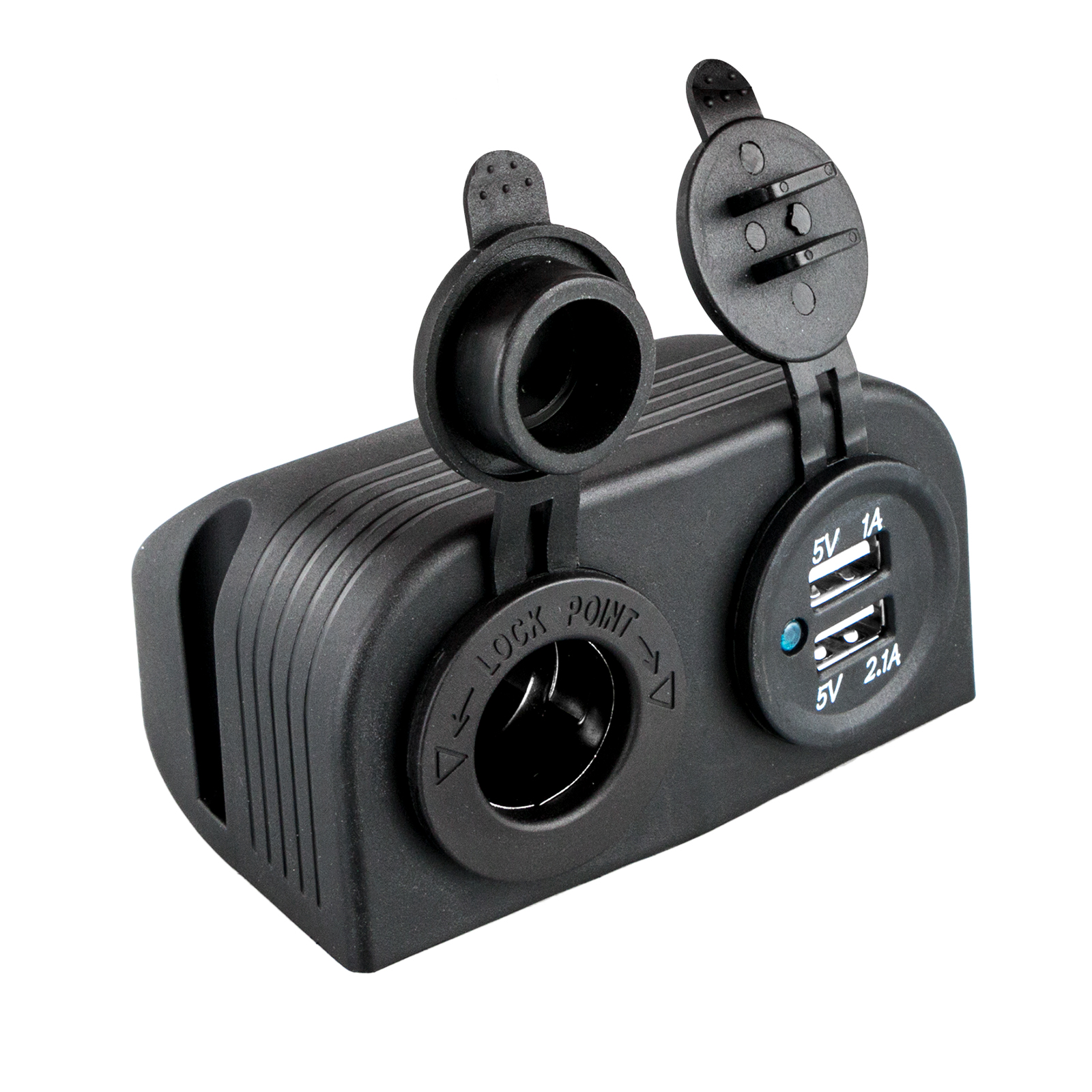 Image is loading 12V-Auto-Dual-USB-Cigarette-Lighter-Socket-Charger-