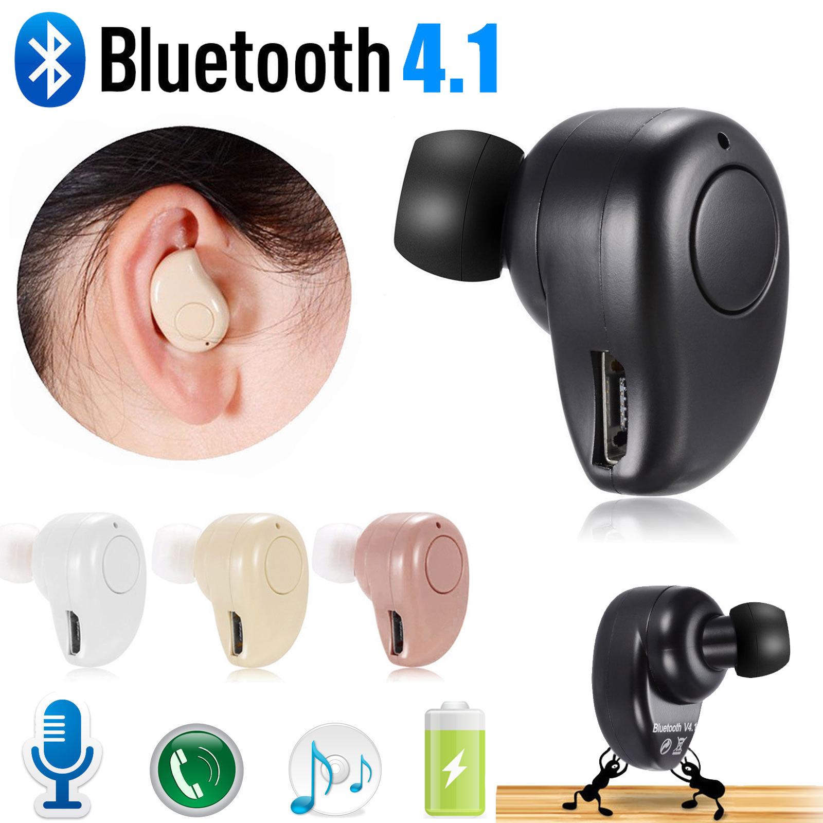 Wireless In-ear Mini Bluetooth4.1 Earbud Sport Headphone Ste
