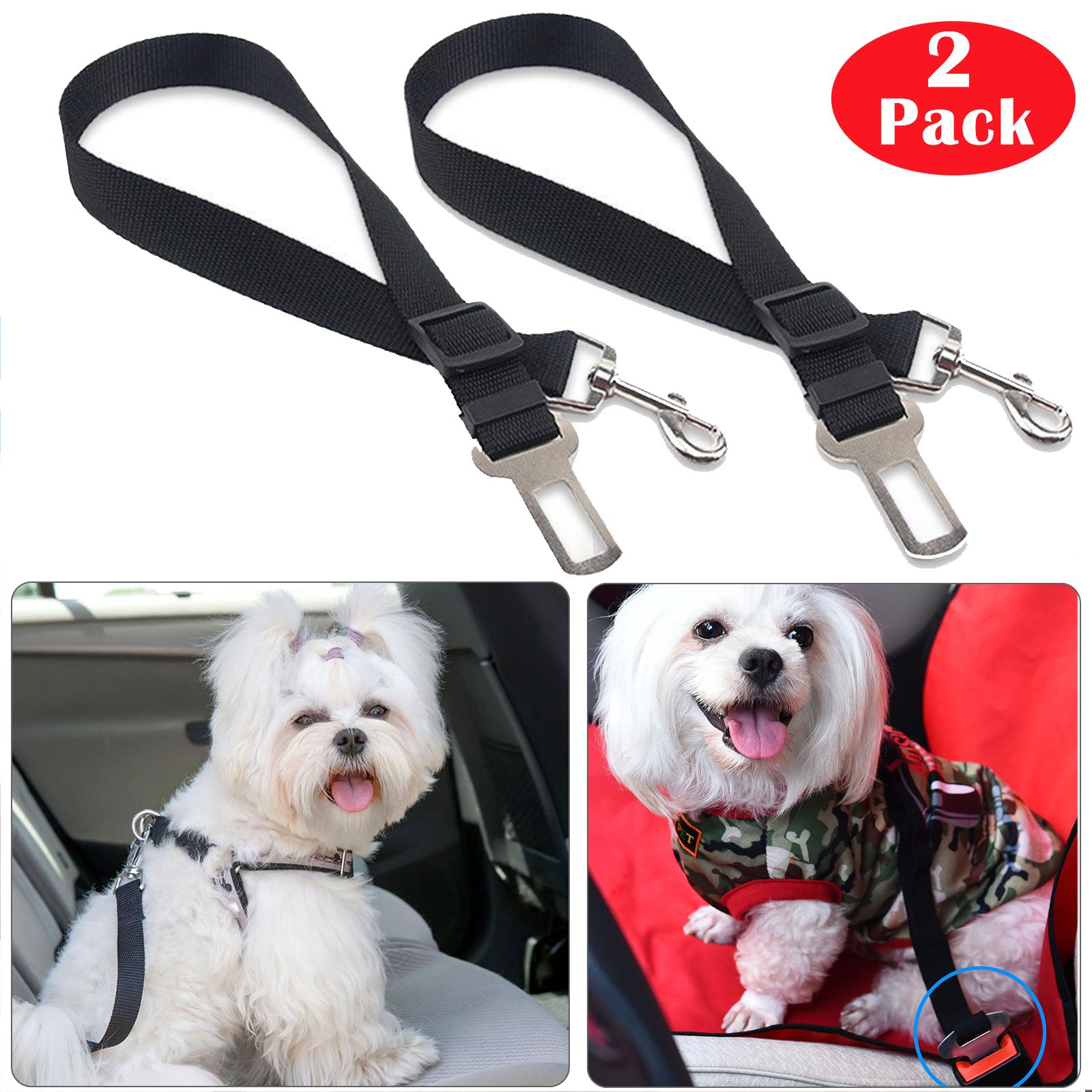 2 Pack Cat Dog Pet Safety Seatbelt for Car Seat Belt Adjusta