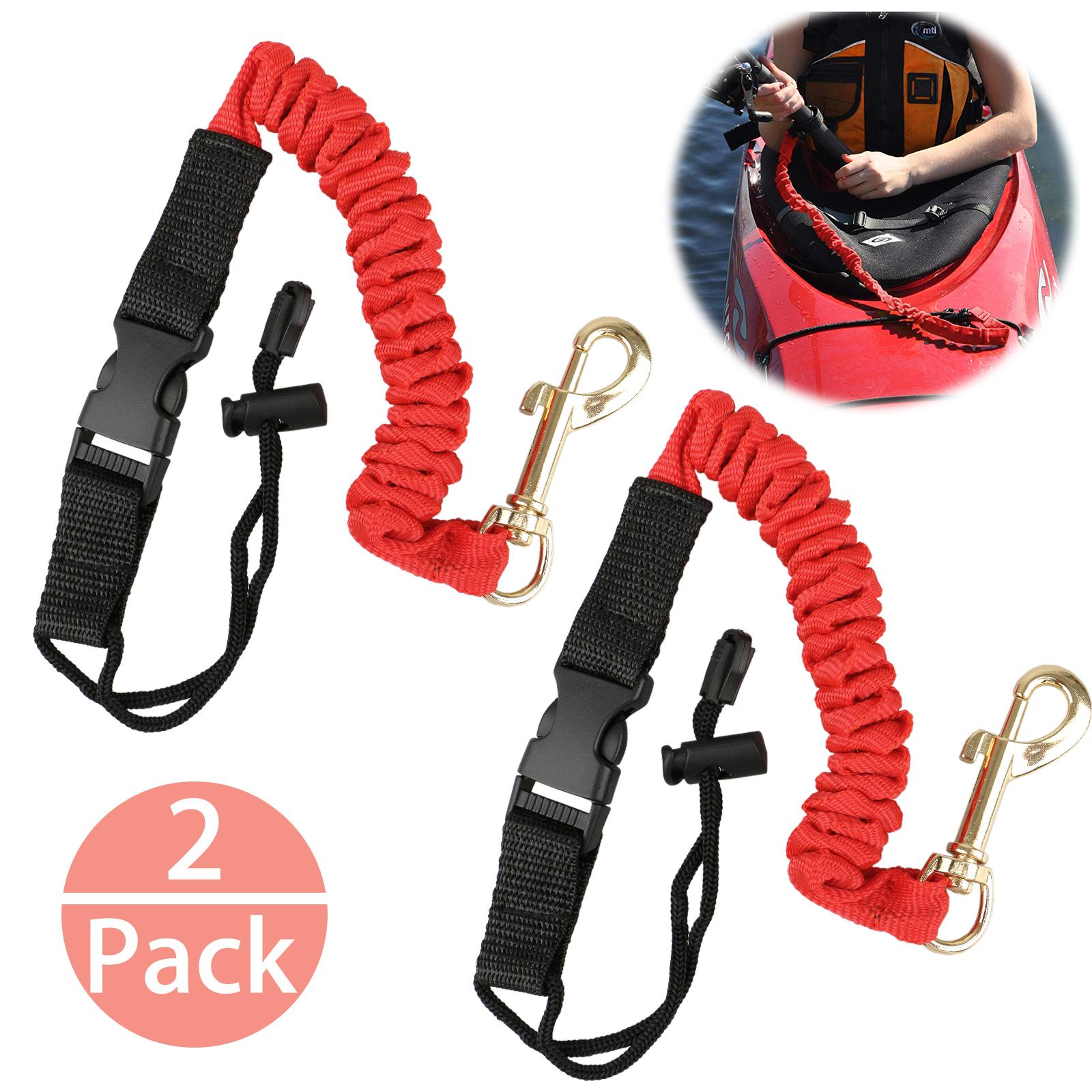 2pcs elastic paddle fishing leash safety rod